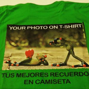 your photo on t-shirt