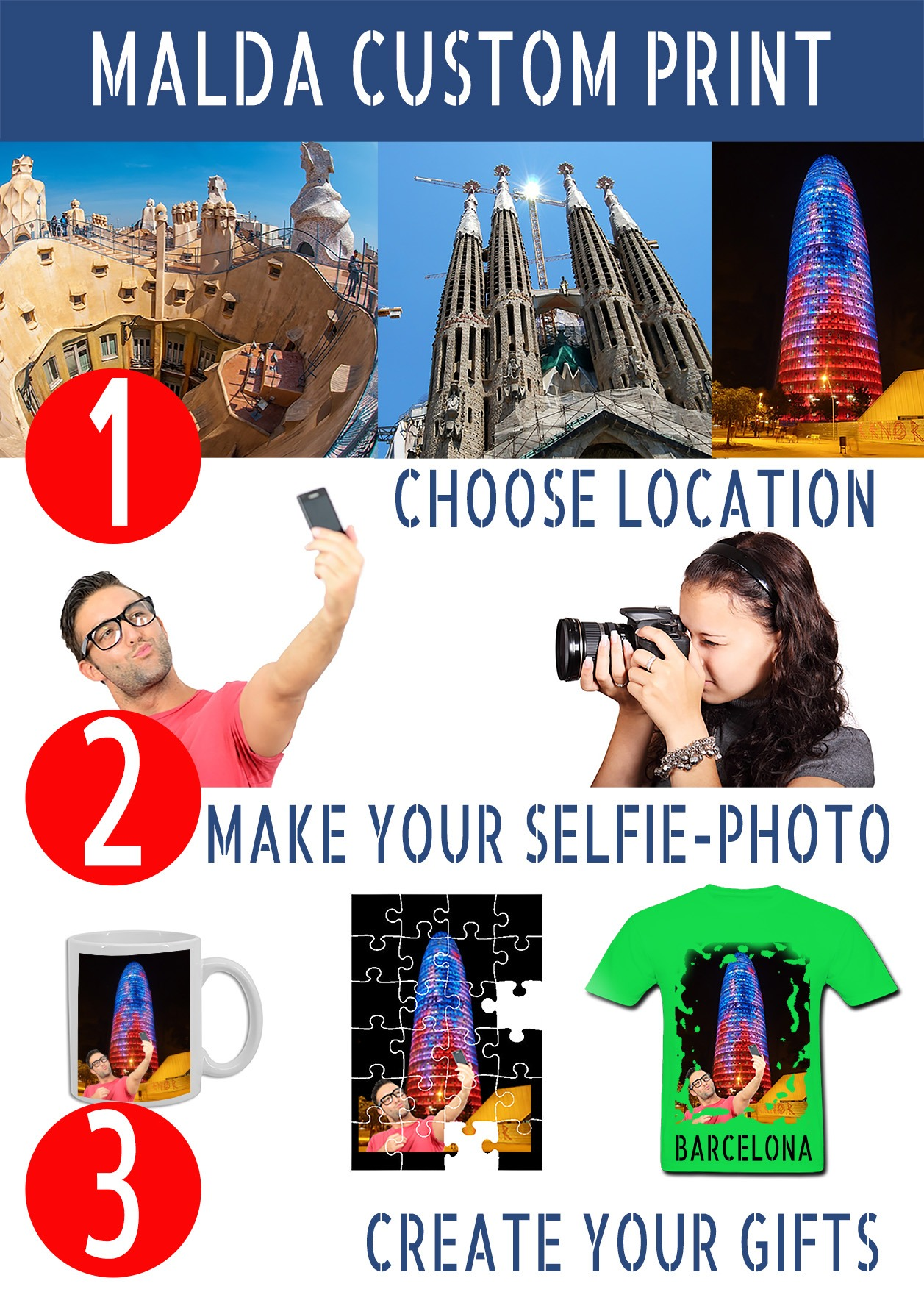 Create your gifts of Barcelona