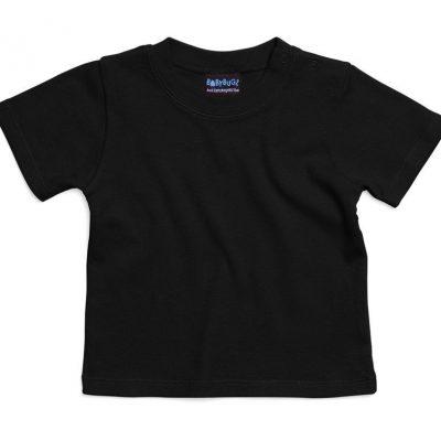 Camiseta bebe negra personalizable