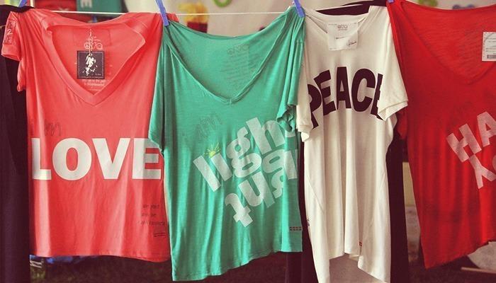 camisetas impresas varios colores